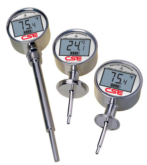 Digital Thermometer Drawing Sani-flow Digital Thermometers